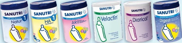 imagen leche de fórmula sanutri