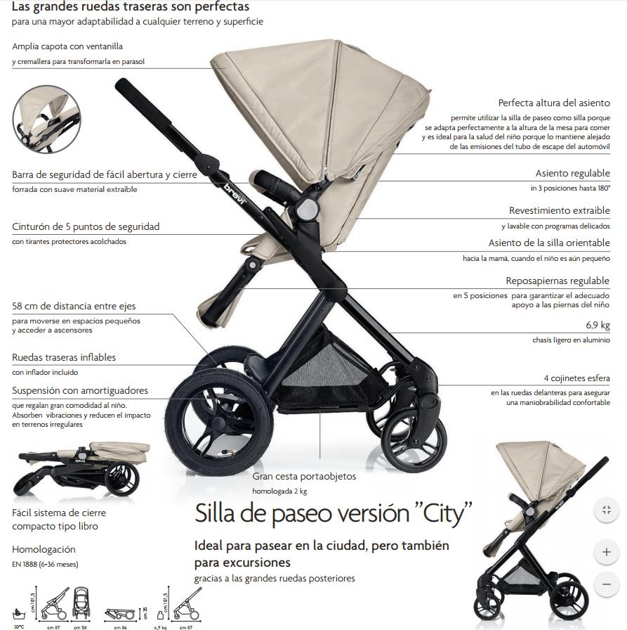 características de la silla de paseo brevi presto