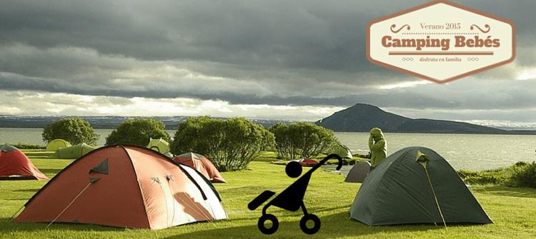 vacaciones con mi bebé de un mes en el camping