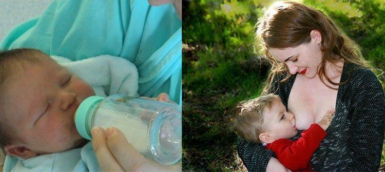 elegir entre la lactancia mixta
