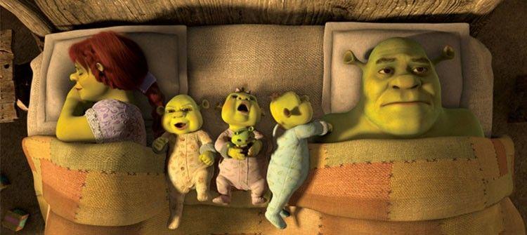 Shrek si que usa el colecho