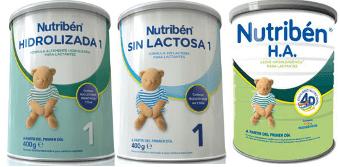 imagen leche de fórmula nutriben sin lactosa