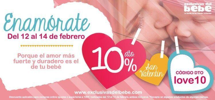 imagen de san valentin en la tienda online para bebés